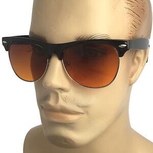 d43e5d838b5e2 HD Driving Horn Pilot Sunglasses Golf Vision Blue Blocker Lens High ...