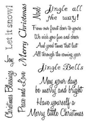 Christmas Sentiments For Cards.Card Io Christmas Sentiments Verses Clear Stamps Cardio