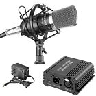 Neewer NW-700 Studio Condenser Microphone Set with 48V Phantom Power Supply Kit