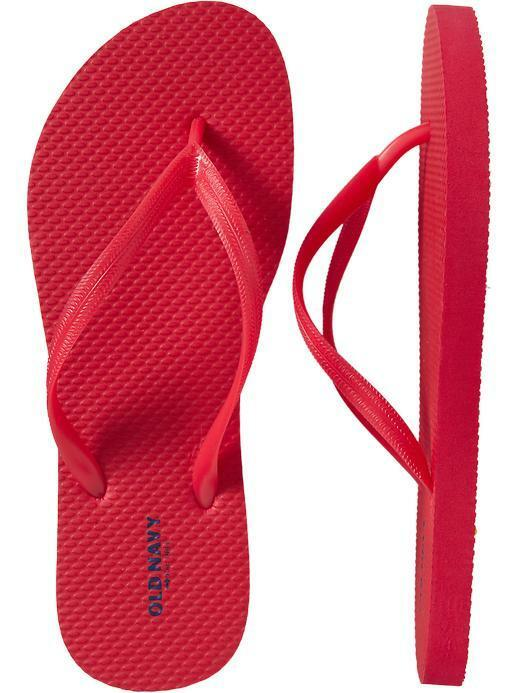 NWT Ladies FLIP FLOPS Old Navy Classic Classic Navy Thong Sandals RED Shoes SIZE 7,8,9,10,11 3a36a4