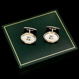 Deco Sterling 835 Silver Gold Plated