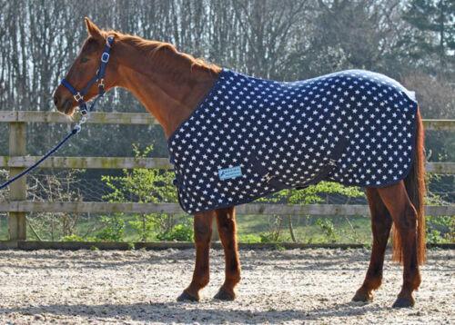 MAXIMA FLEECE RUG FOR HORSE PONY AND SHETLAND *NAVY STAR* SIZES 3/'0-7/'0