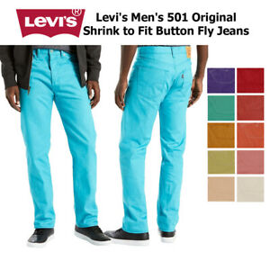 Levi's Men's 501 Denim Original Shrink to Fit Button Fly Jeans