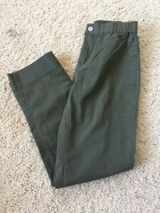 brandy melville olive green high rise cotton high rise Casey pants sz S