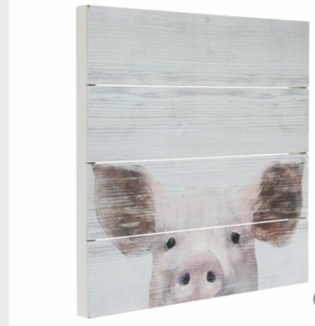 The Breakfast Club animals pig chicken funny ACEO Giclee folk art print Criswell