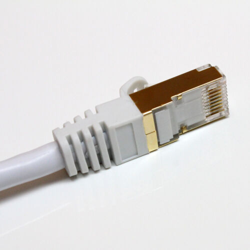 Premium CAT7 Double Shielded 10 Gigabit 600MHz Ethernet Cable 3 Ft Tera Grand