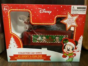 Disney Mickey Mouse Holiday Express #1 Goofy/'s Coal Car Collector Series Train