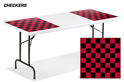Universal Boardgame Folding Table Top Camping Games Decal Sticker Mats CHECKERS