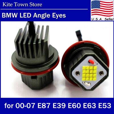 160W Angel Eyes Error Free LED Halo Ring Light Bulbs For BMW E39 E53 E60 E63 USA