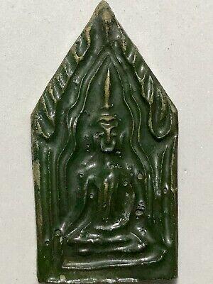 SNAKE BREEDING CHARM PHRA LP RARE OLD THAI BUDDHA AMULET PENDANT MAGIC IDOL#2