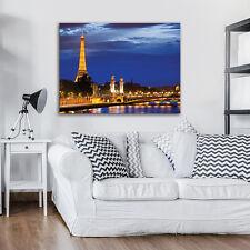 CANVAS WANDBILD LEINWANDBILD POSTER FOTO PARIS STADT EIFFELTURM NACHT 3FX2459O4