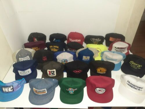 25 Vintage Trucker Hats--- 3 PRISTINE K Products H