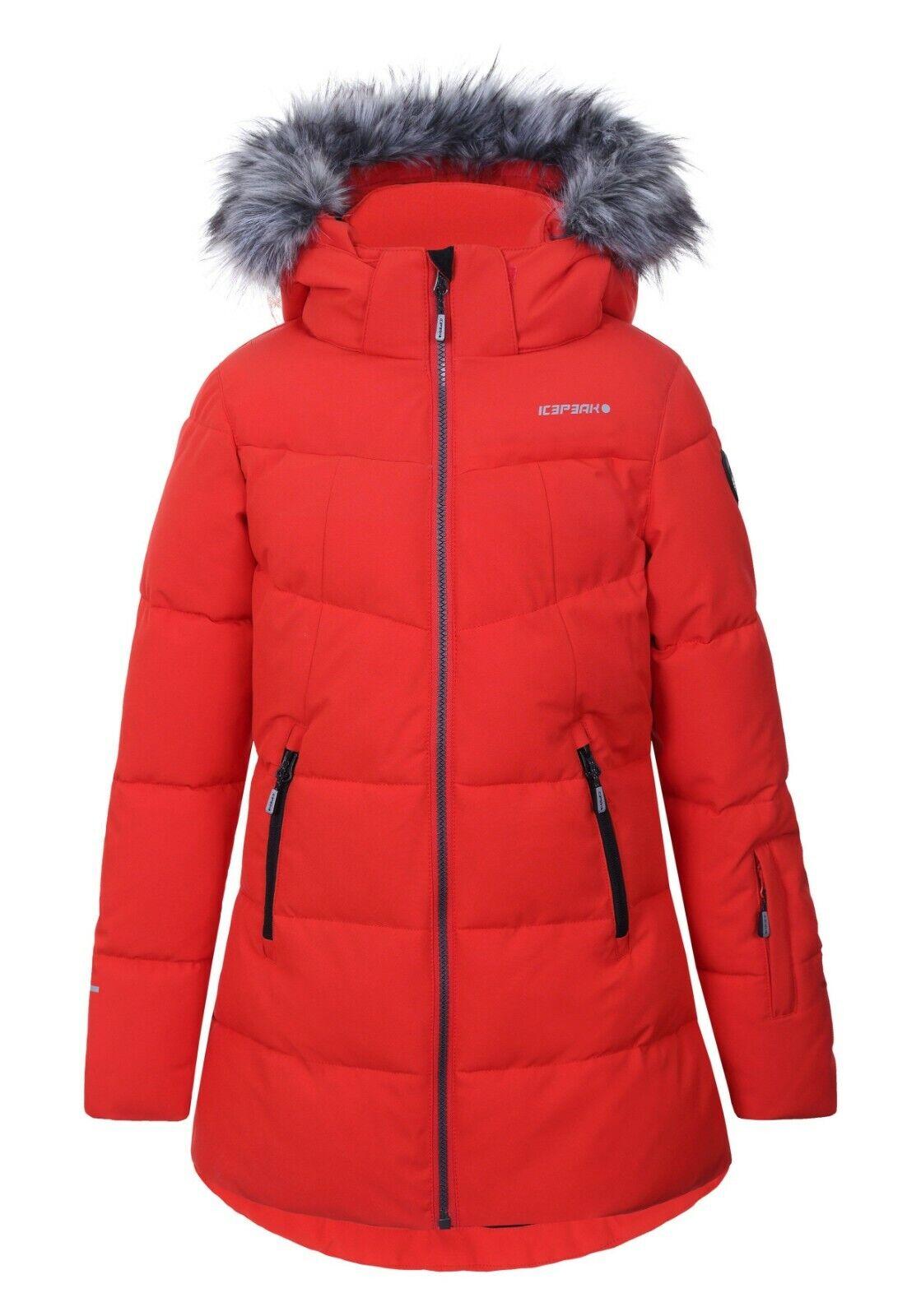 Icepeak Leona Jr. Skijacke Mantel Kinder Schneefang abnehmbare Kapuze  149,95