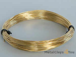Unplated Half-Hard Brass Round Wire 0.4mm to 5.0mm
