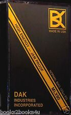 DAK MLX90 HIGH ENERGY JAM PROOF BLANK AUDIO CASSETTE TAPE MLX 90