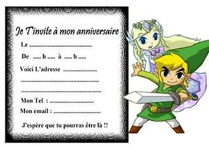 5 cartes invitation anniversaire zelda 04 ebay 5 cartes invitation anniversaire zelda 04 stopboris Choice Image