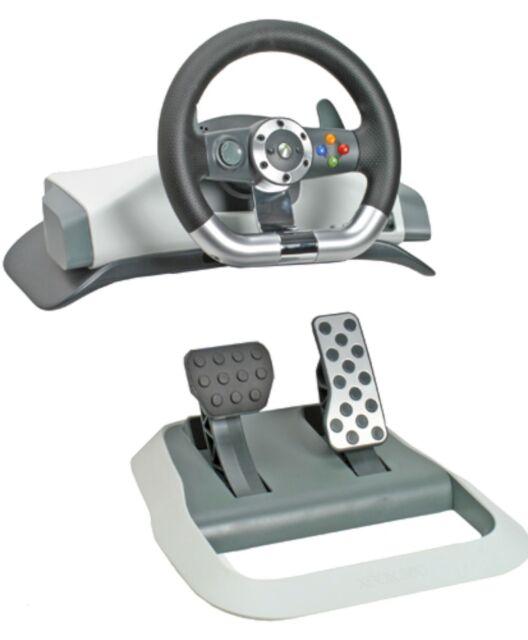Genuine Microsoft XBox 360 Wireless Force Feedback Racing Wheel steering