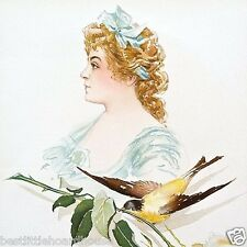 Vintage Original 1903 SYBIL SANDERSON SONGBIRD SINGER VICTORIAN Litho Print NOS