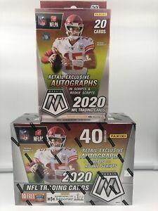 2020-Panini-Mosaic-Football-Mega-1-and-Hanger-1-Box-Bundle-NFL-Trading-Cards