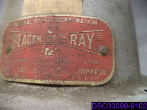 Details about  /Beacon Ray 27S Warning Light with Federal Signal A-6 Vibratone Bell