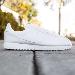fa9858f2674 Details about NIKE CORTEZ BASIC LEATHER WHITE WOLF METALLIC SILVER MEN S  SNEAKERS