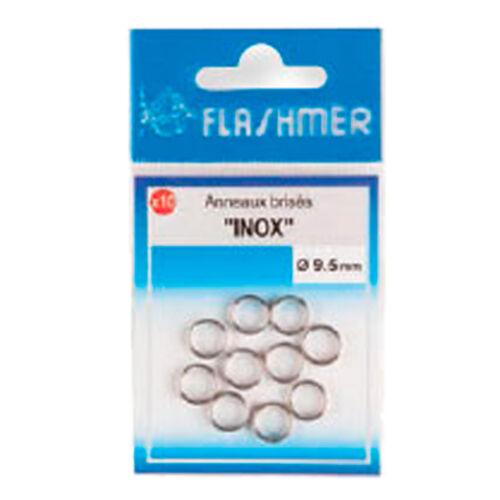 Flashmer Angeln Splitring rostfrei INOX Hochleistungs-Sprengringe Strong 4,5mm
