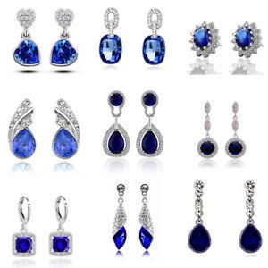 Luxury-Vintage-Royal-Blue-Crystal-Stud-Drop-Dangle-Evening-Party-Bridal-Earrings