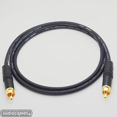 12/' Mogami 2964 SPDIF 75 Ohm Dual Superflexible Cable w// Neutrik Gold RCA.