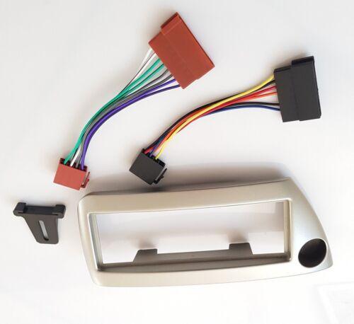 Ford Ka silber metallic Set Radio Blende ISO Kabel Adapter Baujahr 1996-2008