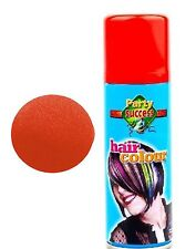 RED HAIR SPRAY and NOSE SET - Temporary Hair Colour Clown Set Fancy Dress