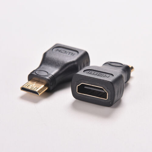 For HDTV MiNi hdmi  Type C Male to hdmi  Type A Female Adapter Connector QR
