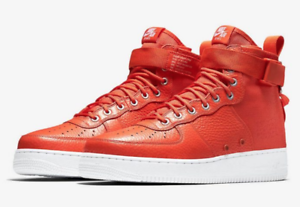 New SF Air Force 1 Mid 'Team Orange' - Nike - 917753 800 Leather Mens Mid Shoes