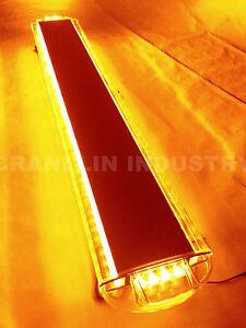 "860MM 34/"" 64W 64 LED WORK LIGHT BAR BEACON RECOVERY FLASHING STROBE LIGHT YELLOW"