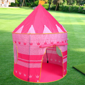 portable pink pop up play tent kids girl princess castle. Black Bedroom Furniture Sets. Home Design Ideas