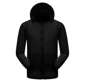 Black-Cycling-Running-Hiking-Waterproof-Windproof-Jacket-Outdoor-Rain-Coat-AU