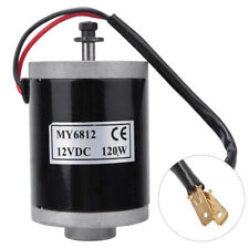 12v 120w Dc Electric Motor Brushed With Belt Pulley For E Bike Scooter My6812
