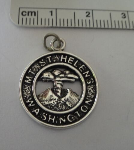 Sterling silver 19 mm Ronde dit Mont ST HELENS Washington charme
