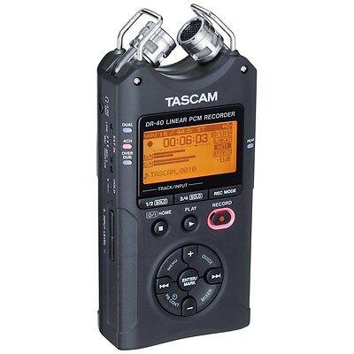 TASCAM DR-40 Portable Digital Track Recorder + 2GB SD Card *NEW* DR40 WAV & MP3