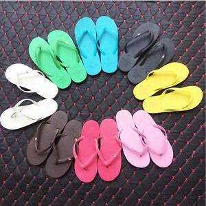 38839ea67bd3 New Womens Girl Beach Flip Flops Jelly Sandals Shoes T- Strap ...