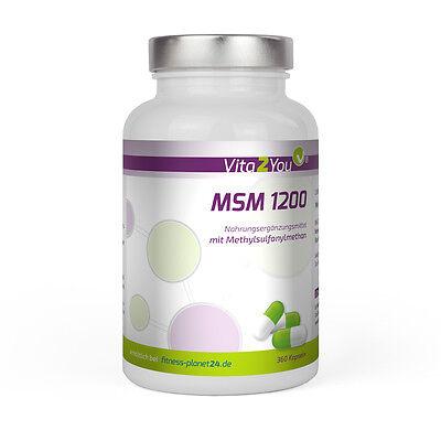 Vita2You MSM 1200 - 240 Kapseln - (Methylsulfonylmethan) - Hochdosiert