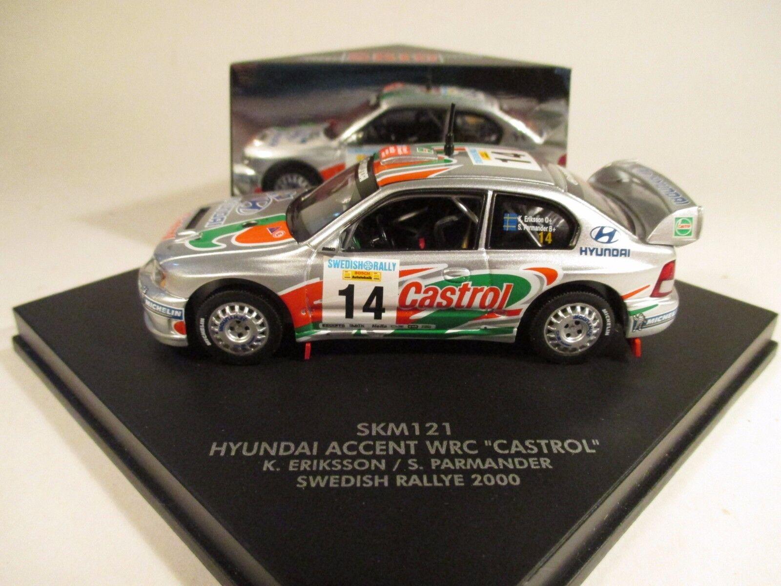 Skid SKM121 Hyundai Accent WRC Castrol sueco Rallye 2000 1 43 Menta en caja