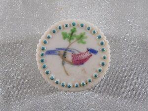 ( 02 ) Magnifique Boite A Pilule Decor Oiseau En Porcelaine / Biscuit Convient Aux Hommes Et Aux Femmes De Tous âGes En Toutes Saisons
