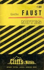 Goethe Faust Cliff Cliff's Cliffs Notes Study Guide Book