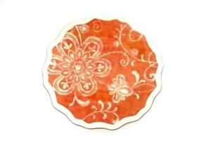 Pier-1-Maribeth-Ironstone-Plate-9-Inch-Floral-Design-Salad-Collector