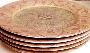 Sango-Salad-Plates-Serving-Plates-Vintage-Plates-Stoneware-Plates-Tableware