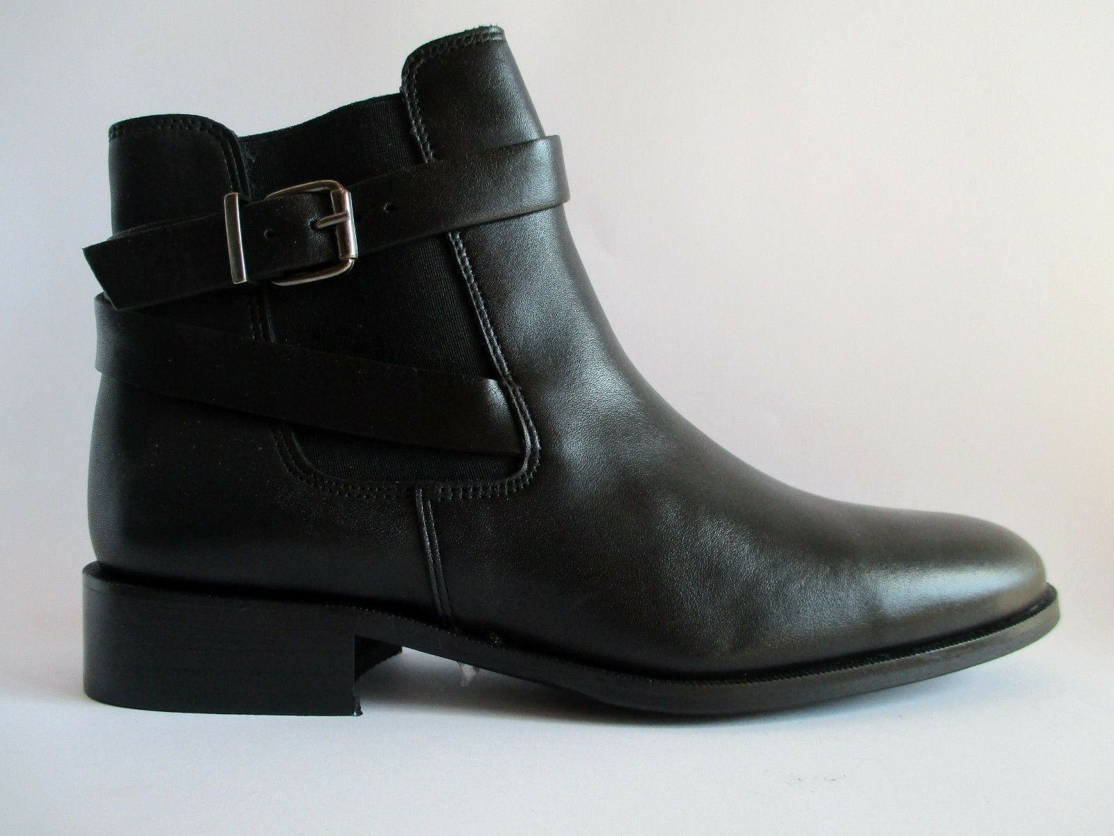 ZIGN Klassische Halbschuhe Ankle  Chelsea Boot Leder Schwarz Gr.39  Ankle C5 2b3698