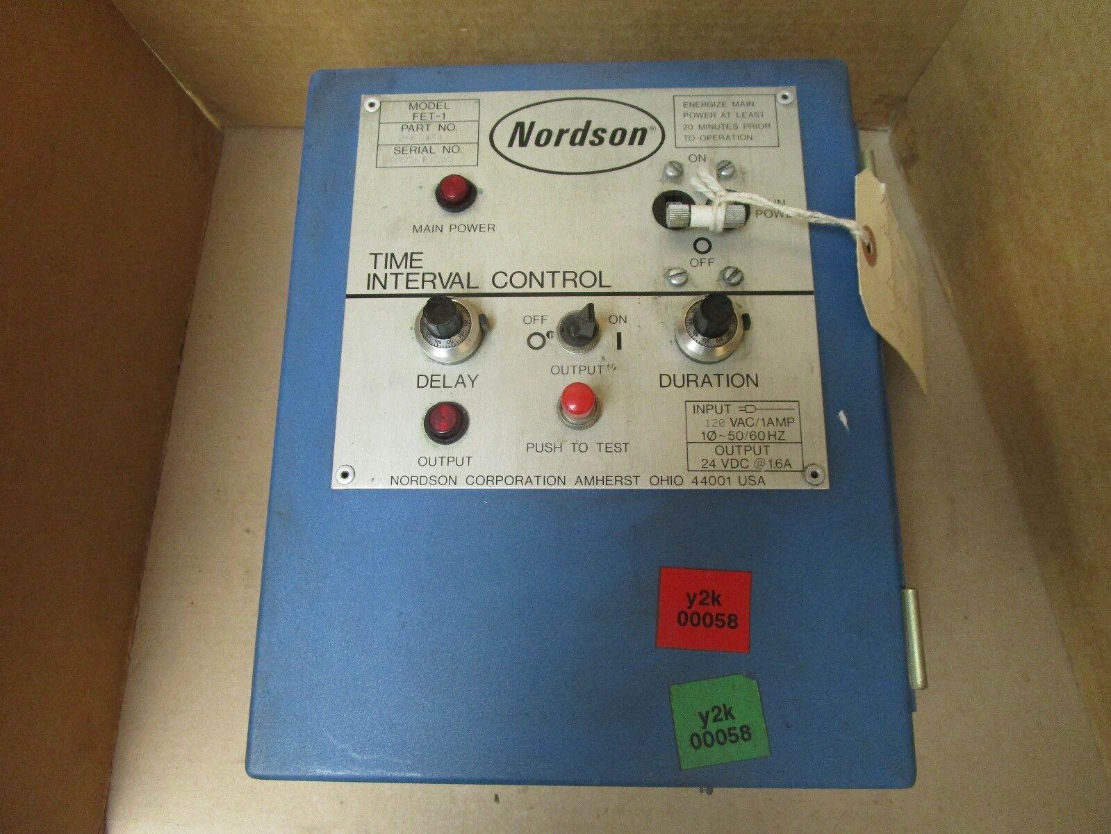 NORDSON TIME INTERVAL CONTROL HOT MELT FET-1 246107D