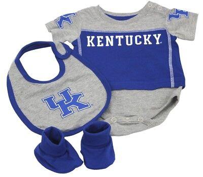 Kentucky Wildcats Baby Girl Creeper 2 Piece Set Romper UK Logo