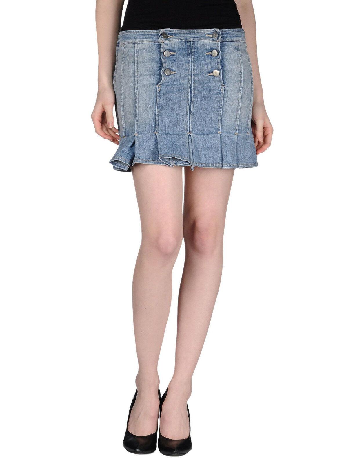 DIESEL Lagerfeld Gallery Denim Skirt Jean Denim Skirt Size 27 NWT Made in