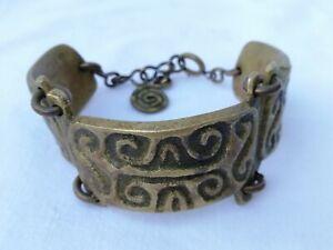 bijoux vintage signé m buffet bronze argente